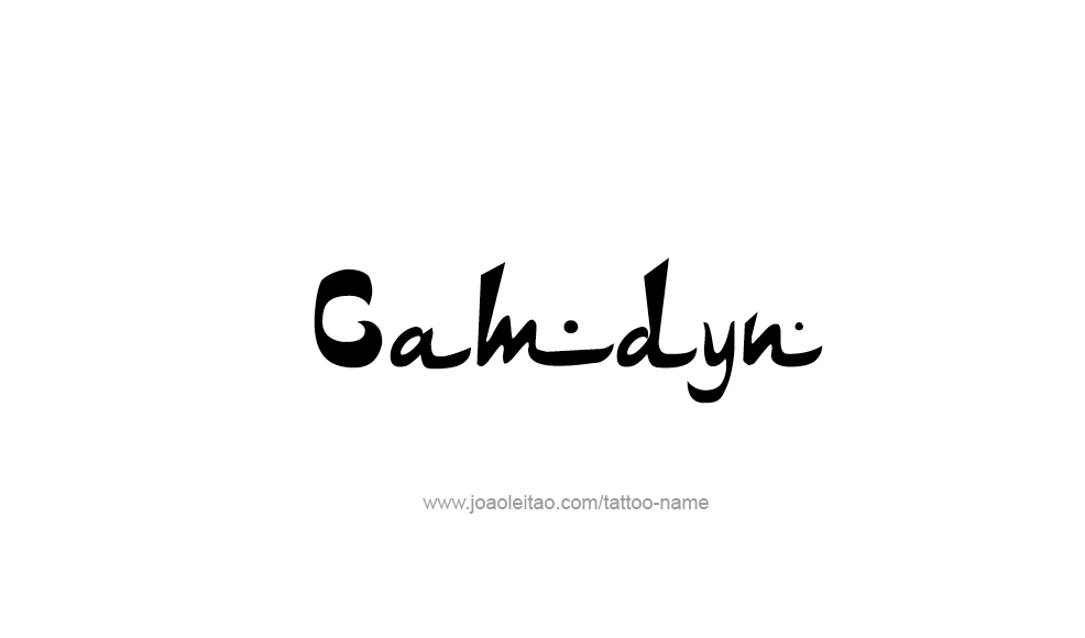 Tattoo Design  Name Camdyn
