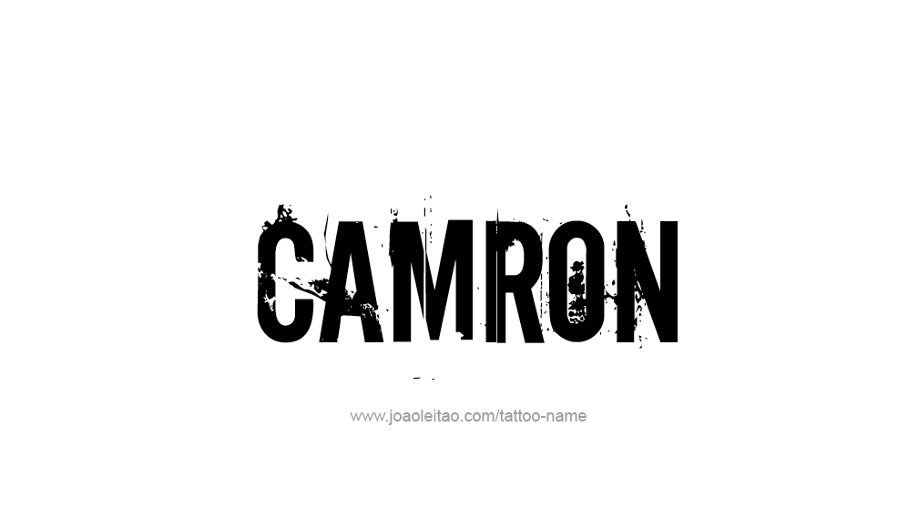 Tattoo Design  Name Camron