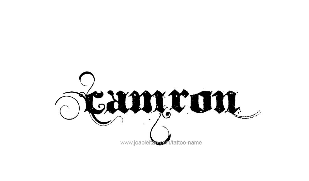 Tattoo Design  Name Camron