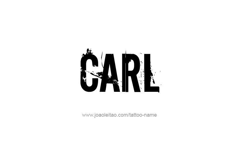 Tattoo Design  Name Carl