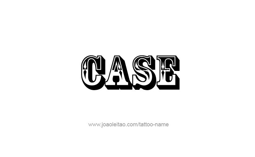 Tattoo Design  Name Case