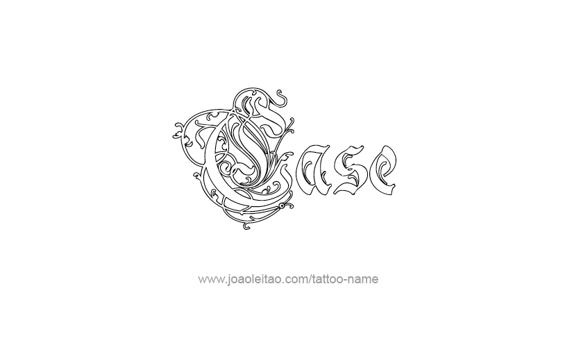 Tattoo Design  Name Case