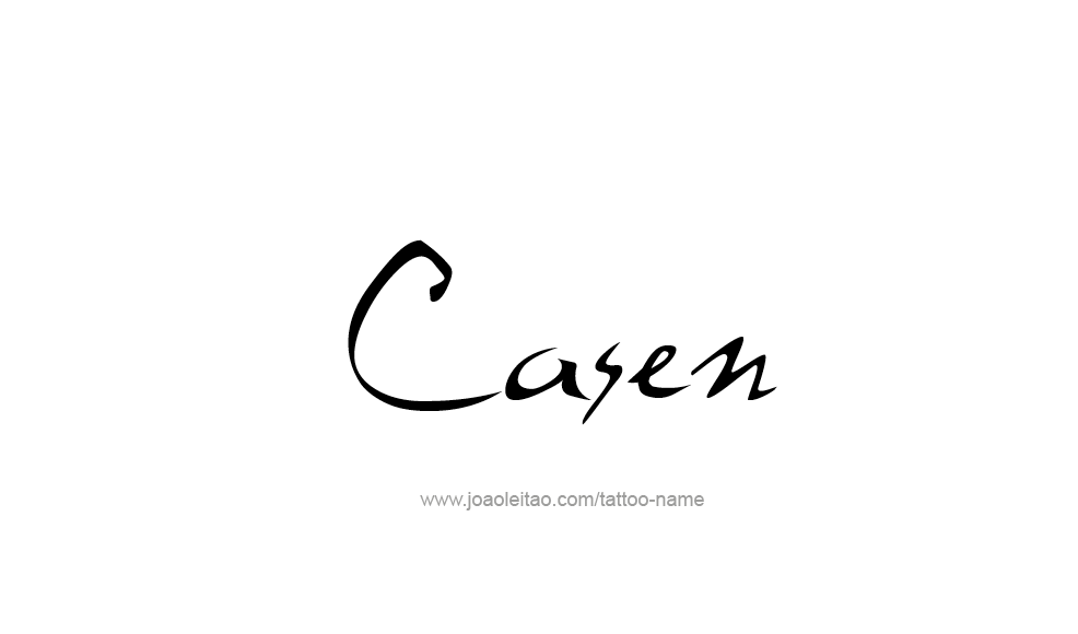 Tattoo Design  Name Casen