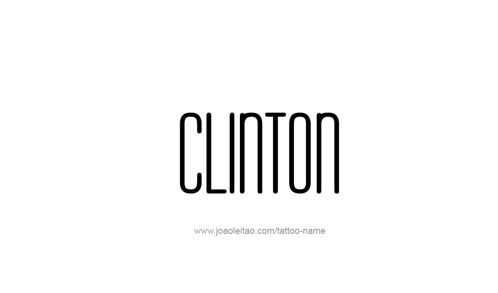 Tattoo Design  Name Clinton