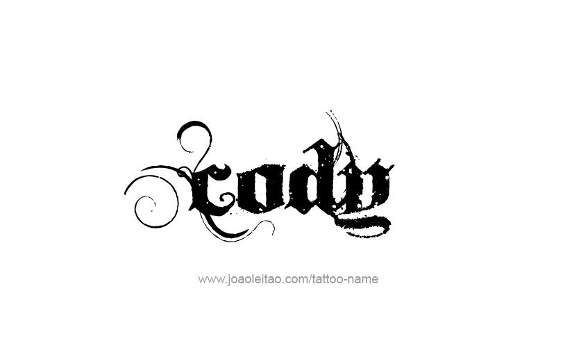 Tattoo Design  Name Cody
