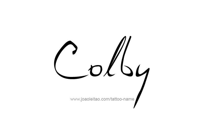 Tattoo Design  Name Colby