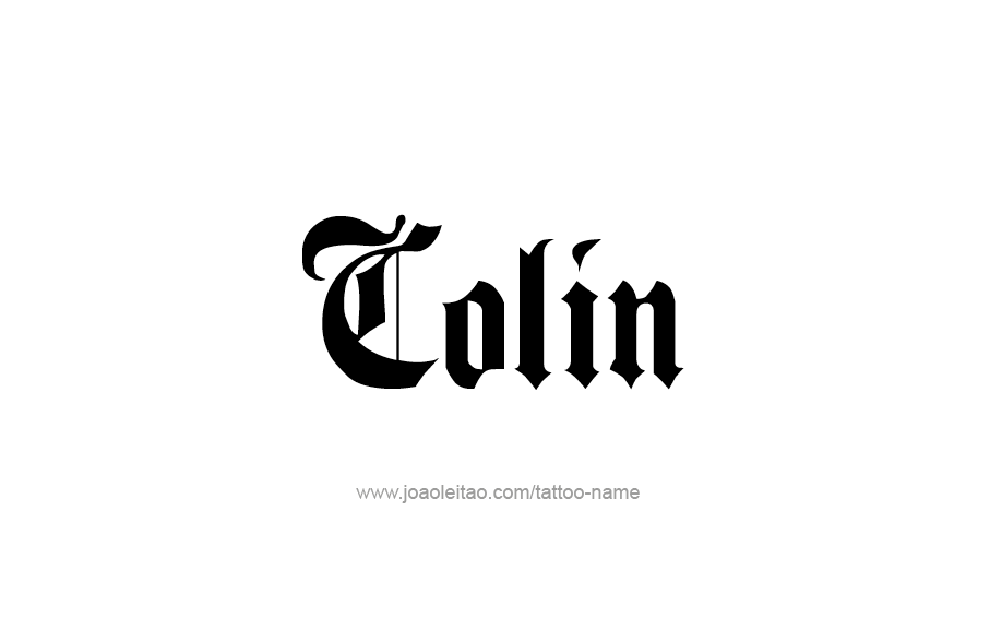 Tattoo Design  Name Colin