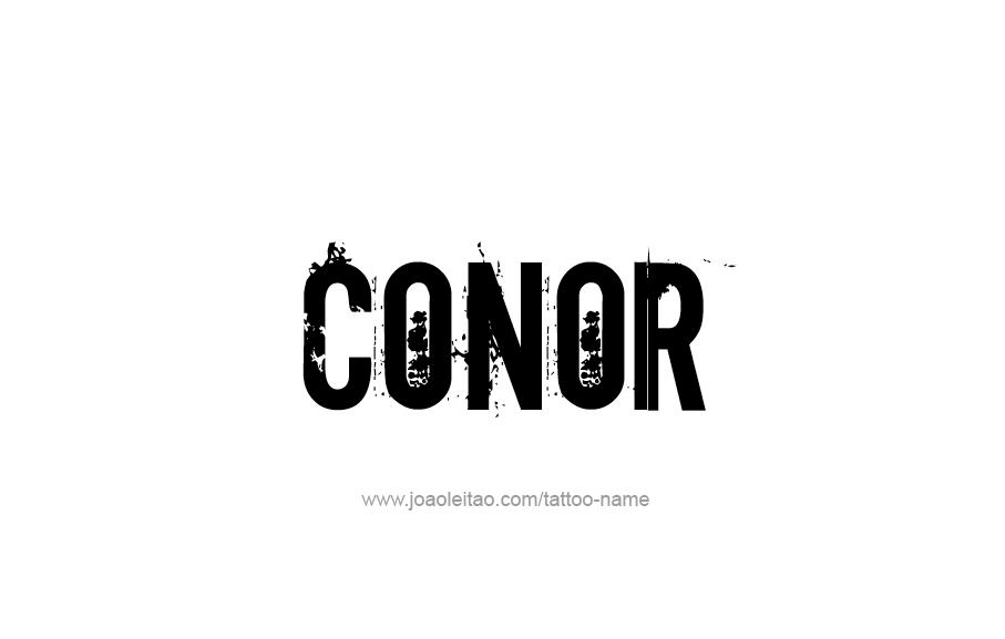 Tattoo Design  Name Conor