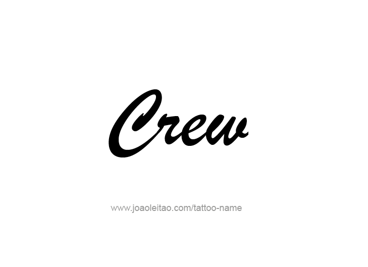 Tattoo Design  Name Crew