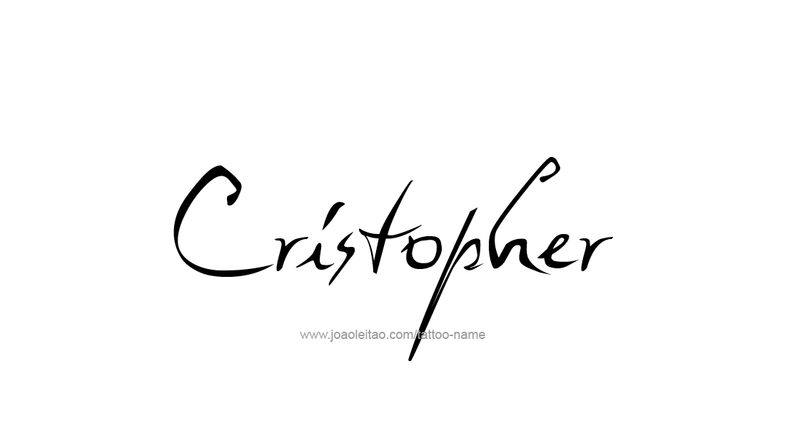 Tattoo Design  Name Cristopher