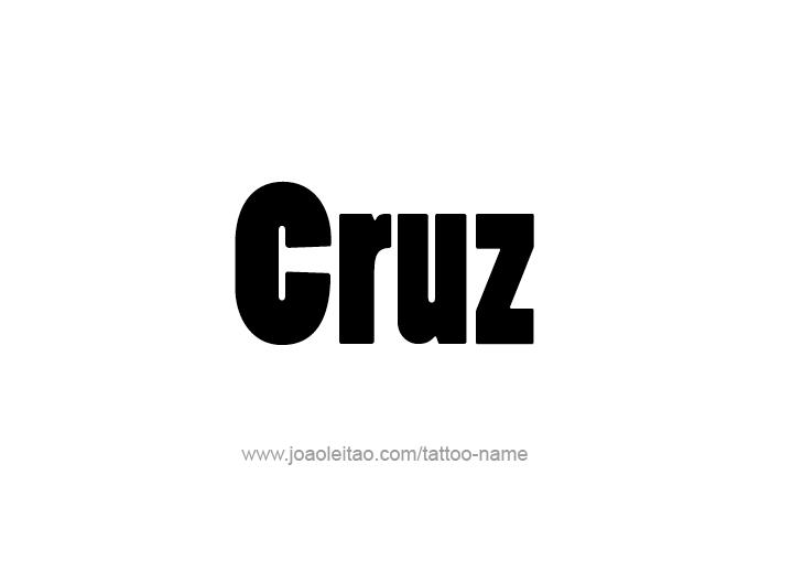 Tattoo Design  Name Cruz