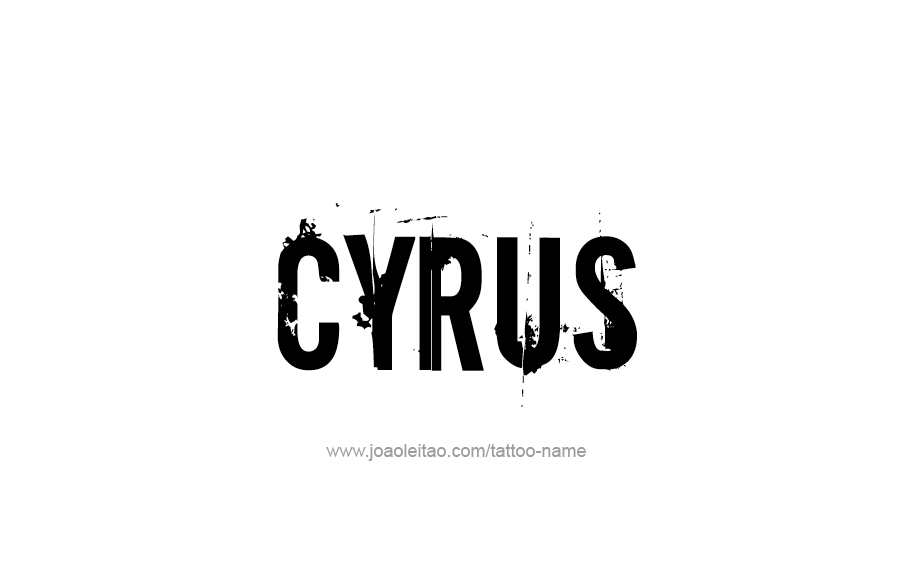 Tattoo Design  Name Cyrus