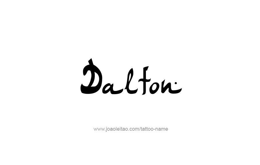 Tattoo Design  Name Dalton