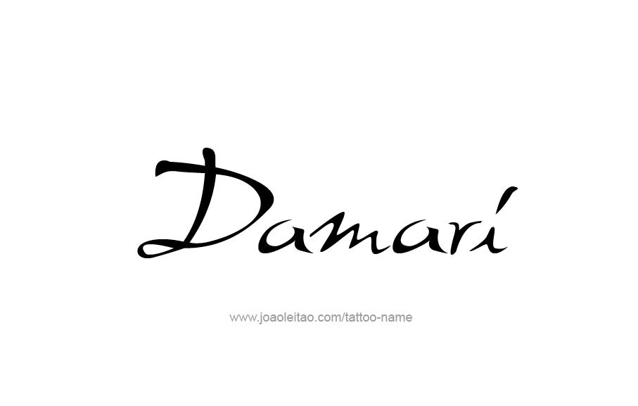 Tattoo Design  Name Damari