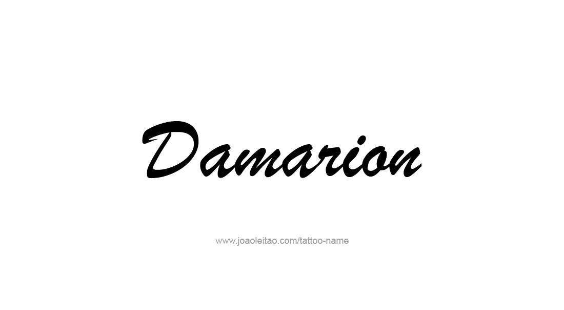Tattoo Design  Name Damarion