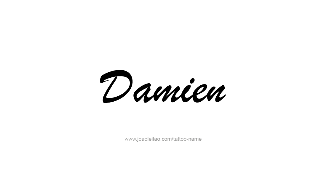 Tattoo Design  Name Damien