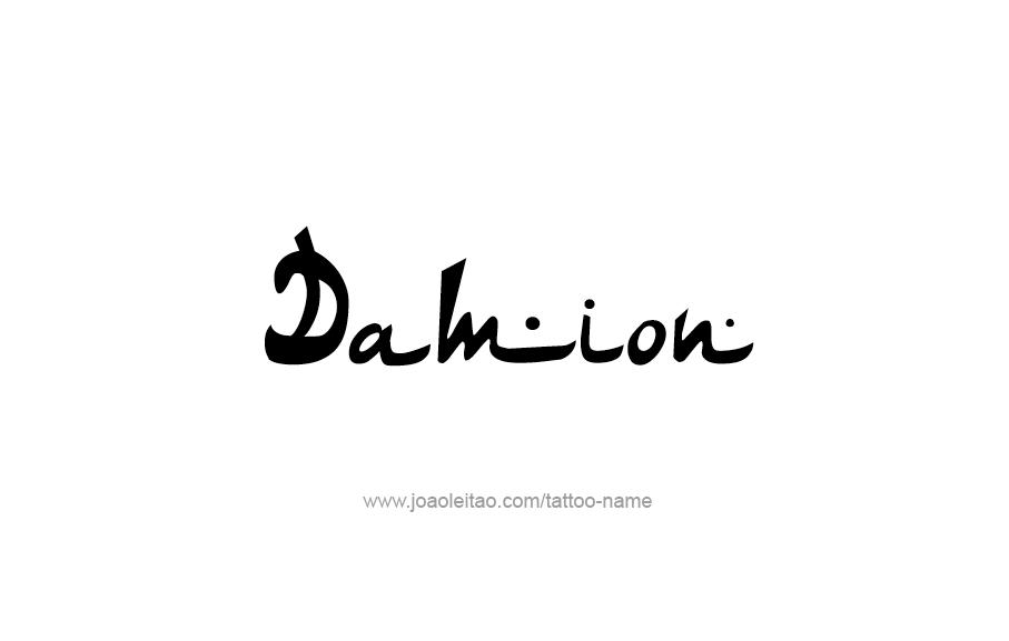 Tattoo Design  Name Damion