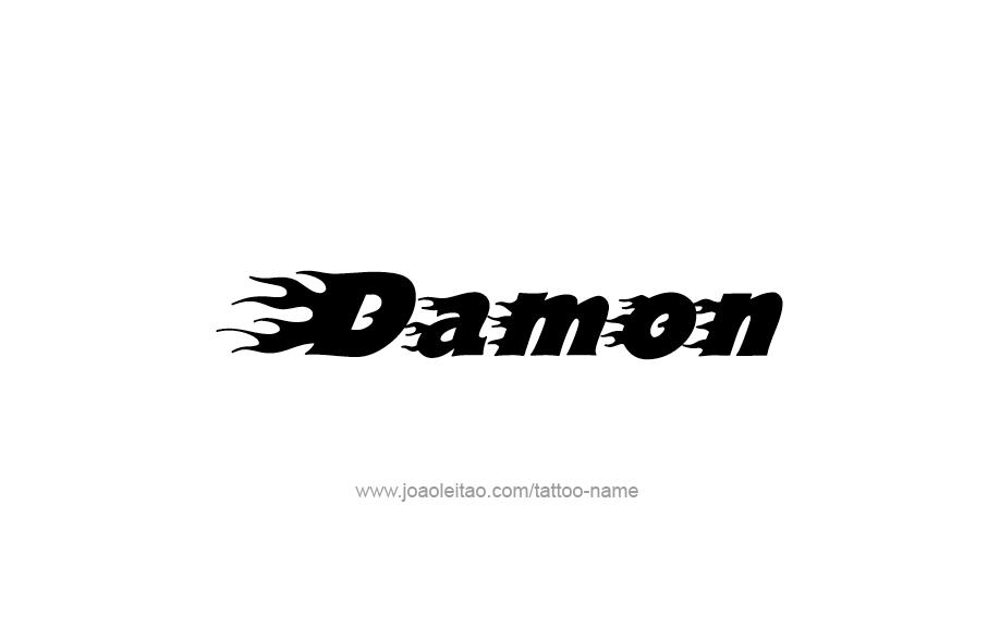 Tattoo Design  Name Damon