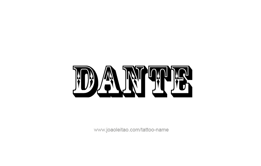 Upper Arm Tattoo Ideas For Men Dante Name Tattoo Desi...