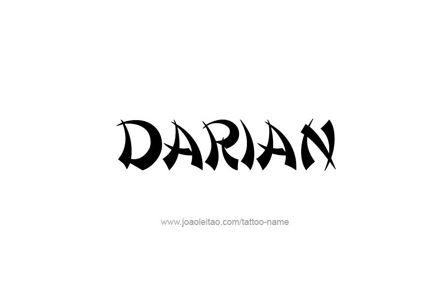 Tattoo Design  Name Darian