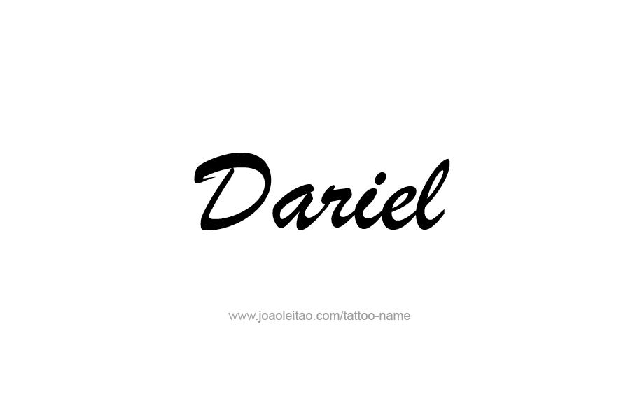 Tattoo Design  Name Dariel