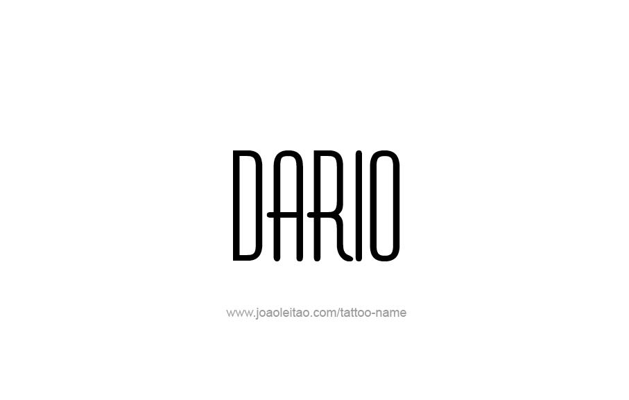 Tattoo Design  Name Dario