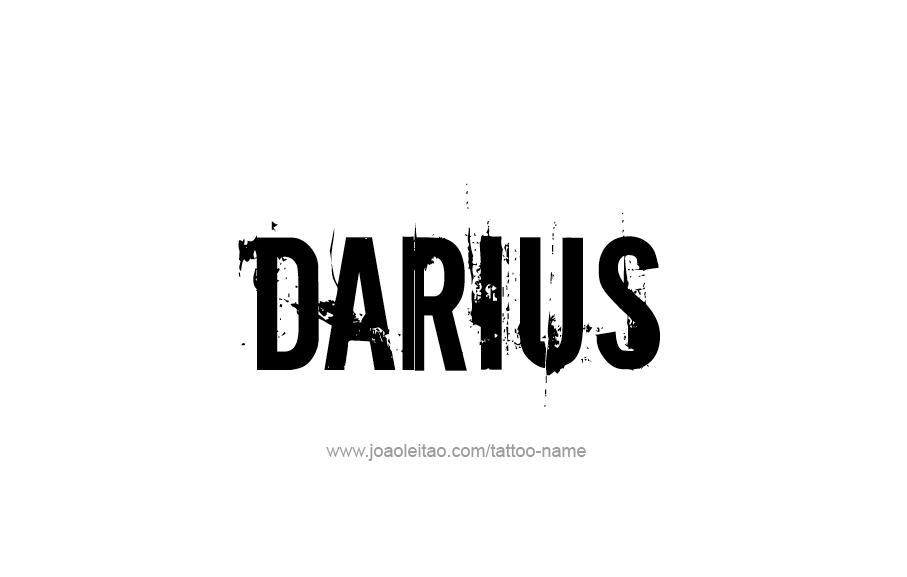 Tattoo Design  Name Darius