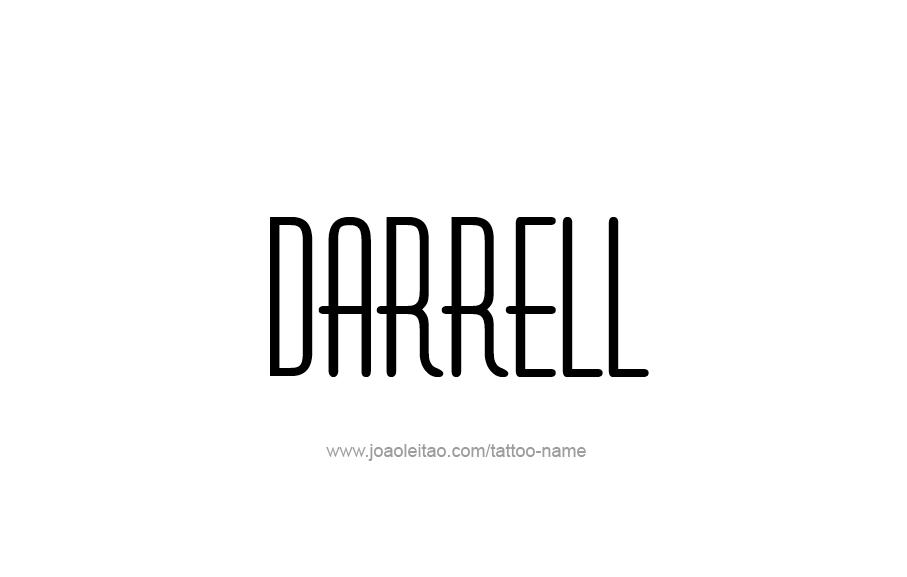 Tattoo Design  Name Darrell