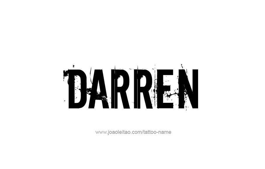 Tattoo Design  Name Darren
