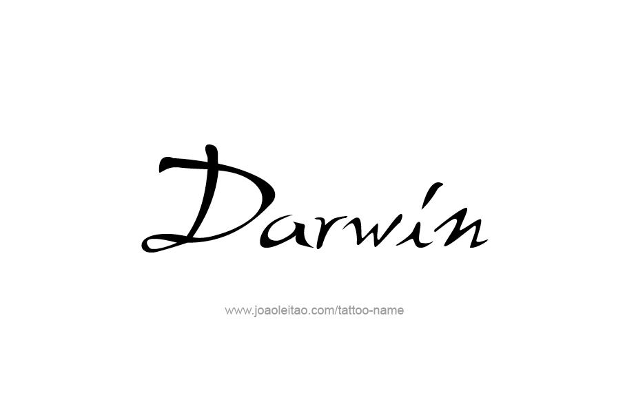 Tattoo Design  Name Darwin