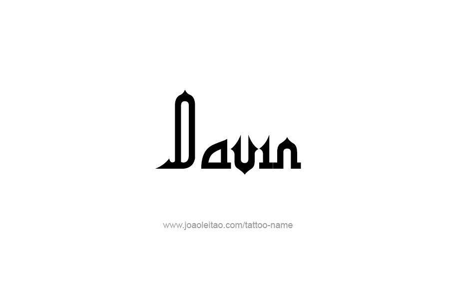 Tattoo Design  Name Davin