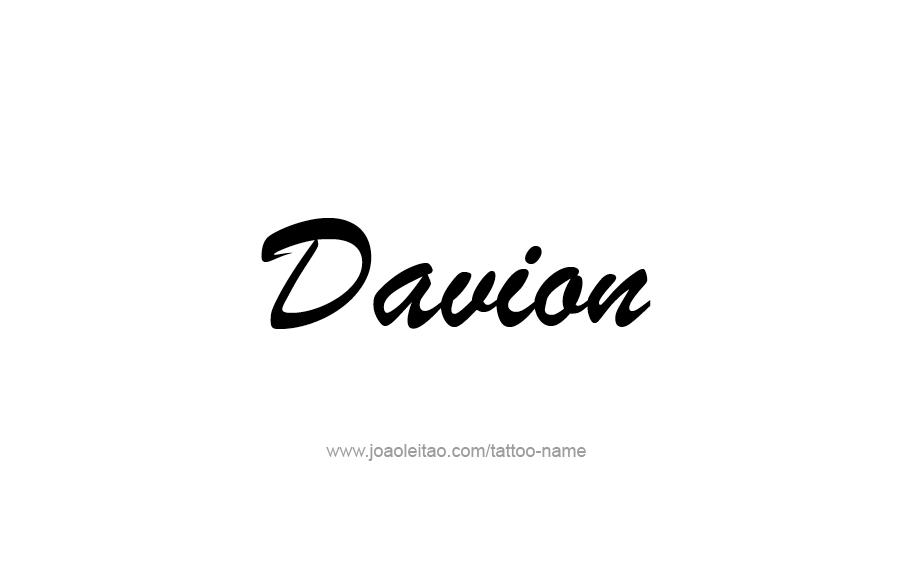 Tattoo Design  Name Davion
