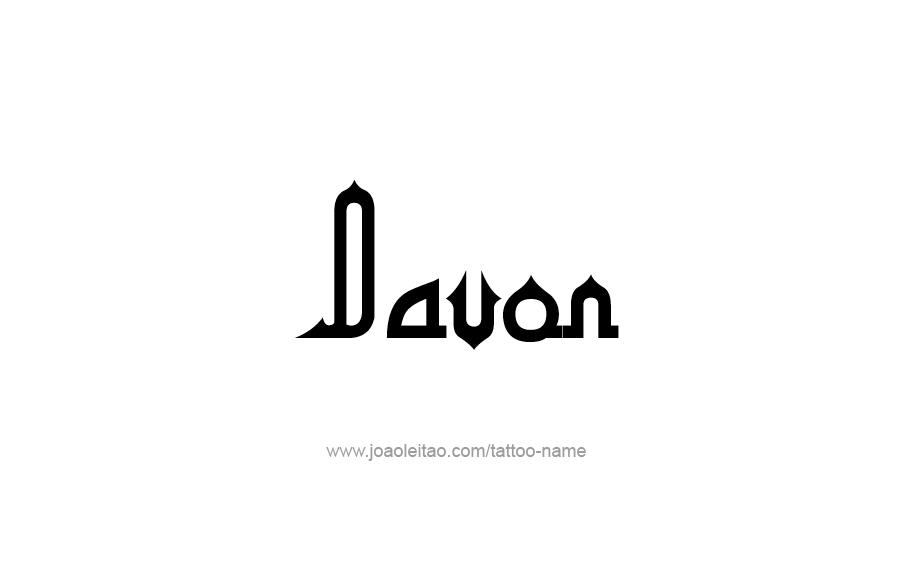Tattoo Design  Name Davon
