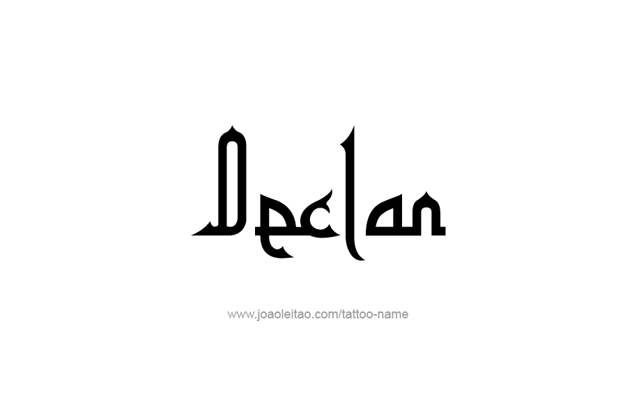 Tattoo Design  Name Declan