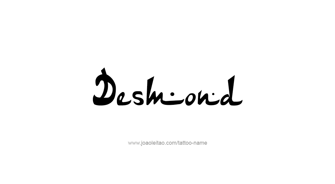 Tattoo Design  Name Desmond
