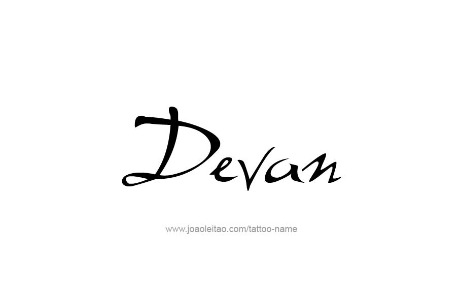 Tattoo Design  Name Devan