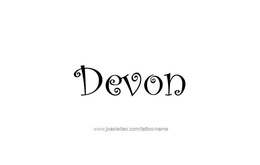 Tattoo Design  Name Devon