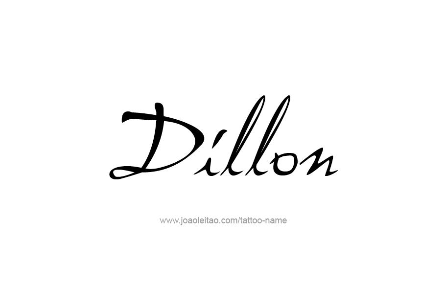 Tattoo Design  Name Dillon