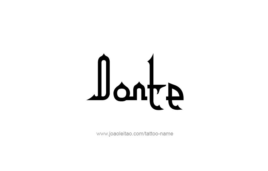 Tattoo Design  Name Donte