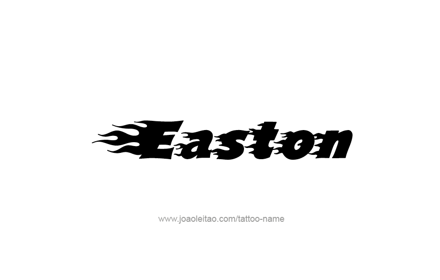 Tattoo Design  Name Easton