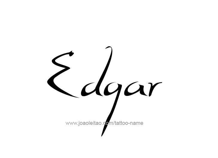 Tattoo Design  Name Edgar