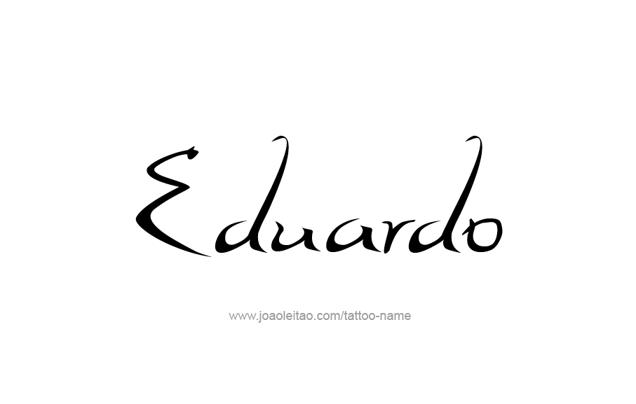 Tattoo Design  Name Eduardo