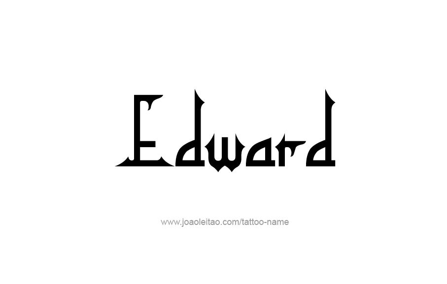 Tattoo Design  Name Edward