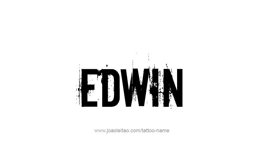 Tattoo Design  Name Edwin
