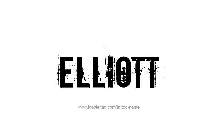 Tattoo Design  Name Elliott