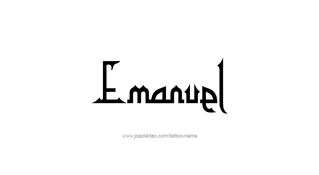 Tattoo Design  Name Emanuel