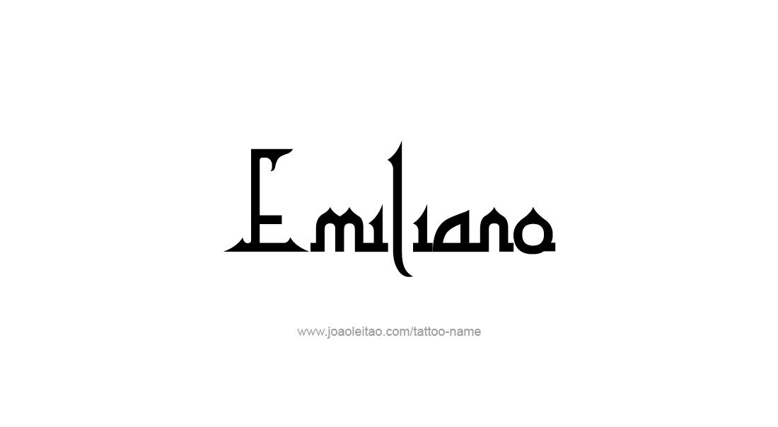 Tattoo Design  Name Emiliano