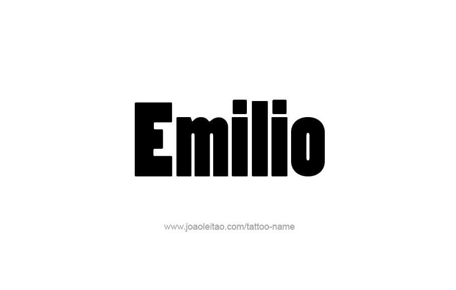 Tattoo Design  Name Emilio
