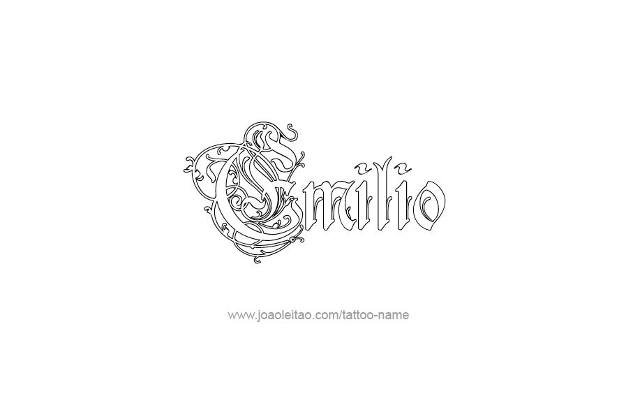 Tattoo Design  Name Emilio