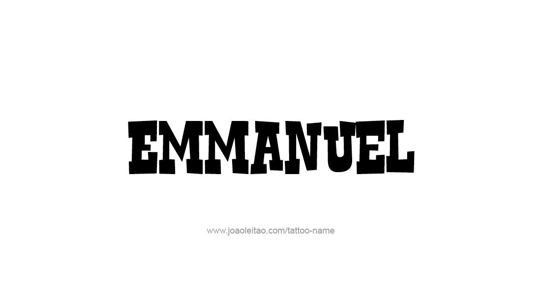 Tattoo Design  Name Emmanuel